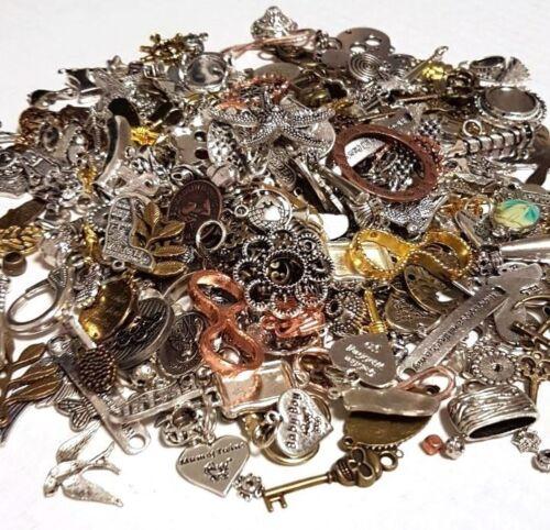 Metall Anhänger Mix 100g Verbinder Metallperlen für Halskette Charm Mischung M66