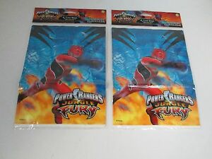 2-POWER-RANGERS-JUNGLE-FURY-PARTY-FAVOR-GOODY-LOOT-BAGS-PARTY-SUPPLIES