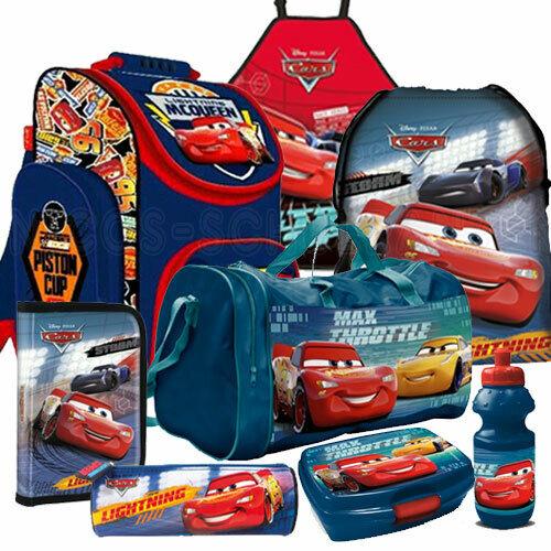 Cars Autos Schulranzen Tornister Rucksack Ranzen Set 8 teilig mit Sporttasche
