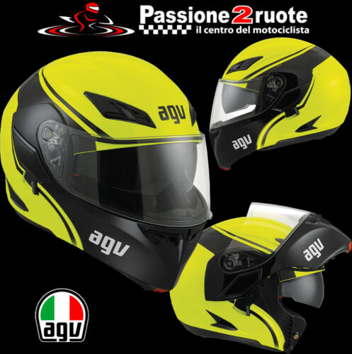 Casco agv compact course nero giallo Bmw R850 R1100 R1150 R1200 Gs R S Rs Rt