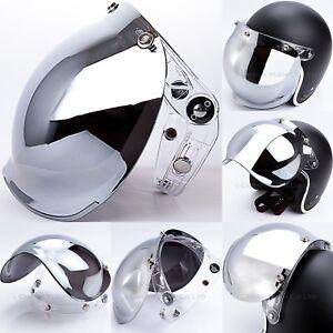 8c26efdd Bubble 3-Snap Visor Flip Up Face Shield Chrome for Motorcycle Open ...