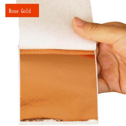 50//100 Sheets Foil Leaf Paper Imitation Gold Silver Copper Gilding Craft Art DIY