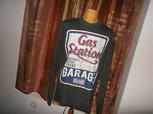 Maillot-T-TRAXX-style-Vintage-PUB-GAS-STATION-GARAGE-BRAND-taille-L-1950-60