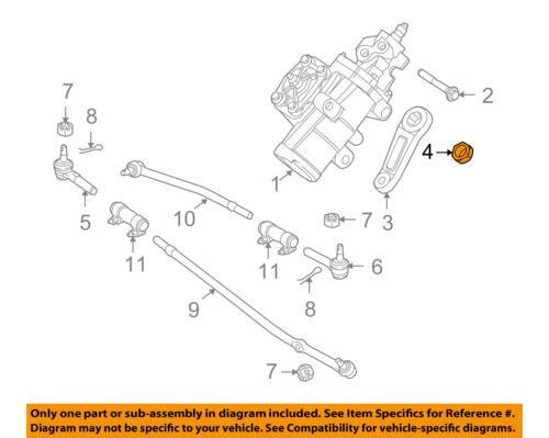 FORD OEM 08-14 E-350 Super Duty Steering Gear-Pitman Arm Nut 380771S442