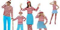 Where's Wally Wenda Adult Boys Girls Licensed Fancy Dress Costume Geek Stag Hen