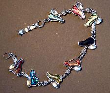 Bracelet Champignons Multicolores Métal et Plastique 18cm (idée Cadeau)