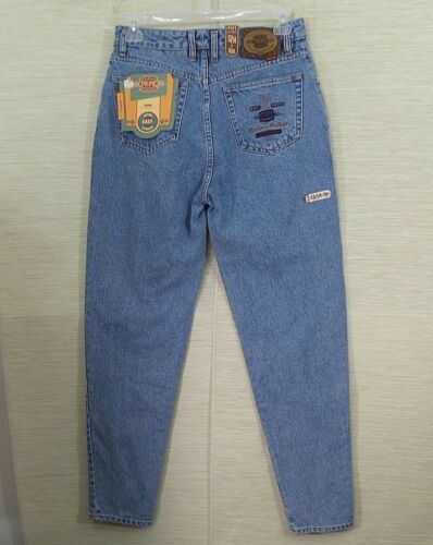 Fly 13 Jeans haute Vtg 14 Nwt Mom Candy Taille Pepe Bouton Denim Light Wash w4wqpI8