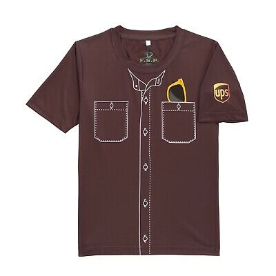 UNITED PARCEL SERVICE UPS BOYS KIDS BROWN YOUTH BE A DRIVER GRAPHIC EE SHIRT