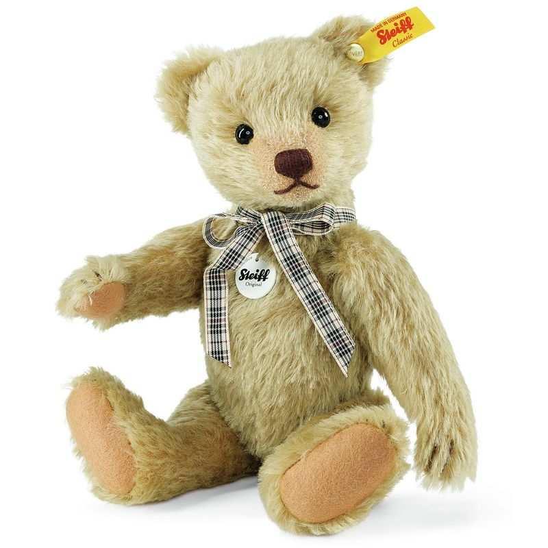 Steiff 000867 Classic Teddybär, Mohair, 25 cm, messing