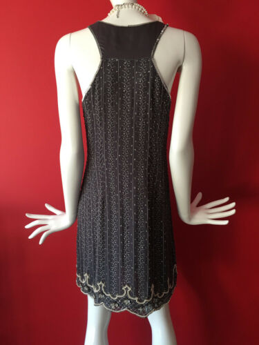 3d5afef236b6 7 of 12 Oasis Vintage Grey Flapper 1920s Gatsby Beaded Sequin Dress Size 14  EUR 40 BNWT
