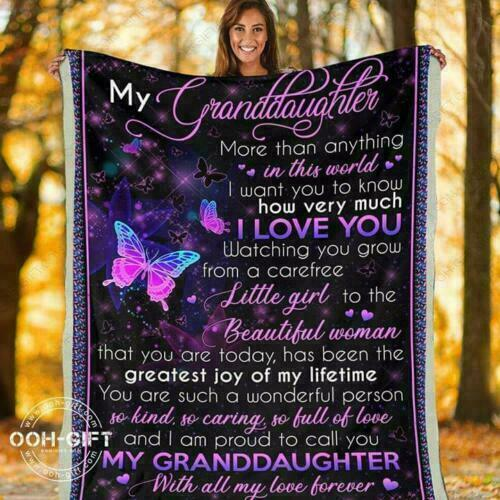 My Granddaughter More Than Anything In The World I Love Y Quilt Fleece Blanket