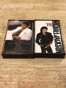 Lot-2-Vintage-MICHAEL-JACKSON-Cassette-Tapes-BAD-THRILLER