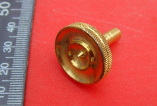 12//3 15059#21  Quality knurled  brass clock foot or barometer setting knob