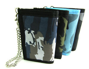 Unisex-Canvas-Wallet-Chain-Coin-Pouch-Credit-Card-Holder-Purse-Security-Light