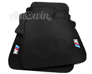 BMW-3-Series-E92-E92LCI-Black-Floor-Mats-With-M-Emblem-Clips-RHD-UK-Model