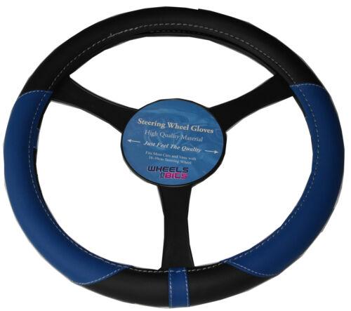 Subaru BRZ Impreza Leather Look Universal Steering Wheel Glove Cover BLUE KA1325