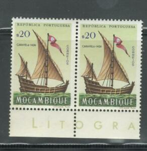 Portugal-Mozambique-1963-Ships-block-of-2-20c-MNH-OG