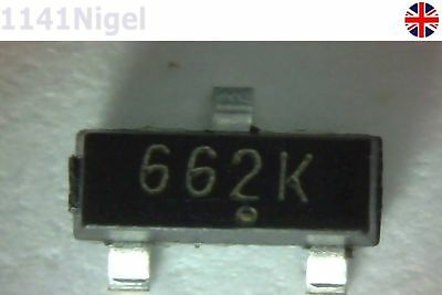 50PCS XC6206P332MR 3.3V 662k SOT-23 TOREX LDO Voltage Regulator UK