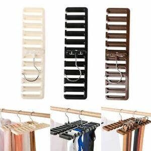 Tie-Belt-Scarf-Hanger-Storage-Rack-Holder-Closet-Organizer-10-Hole-Position-Home