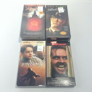 LOT Stephen King HORROR VHS The Shining GREEN MILE Rose Red SHAWSHANK REDEMPTION