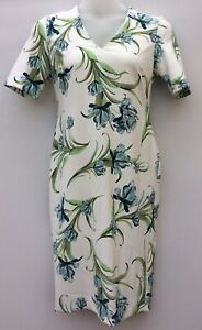 M-amp-S-Collection-Womens-Uk14-Eu42-Ivory-Floral-Shift-Dress-Floral-Print-Evening