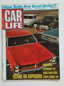Car Life May 1965 Seat Belt Safety Pontiac GTO | eBay