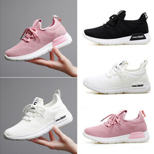 Ladies-Breathable-Trainers-Sneakers-Women-Mesh-Comfy-Lace-Up-Sport-Running-Shoes