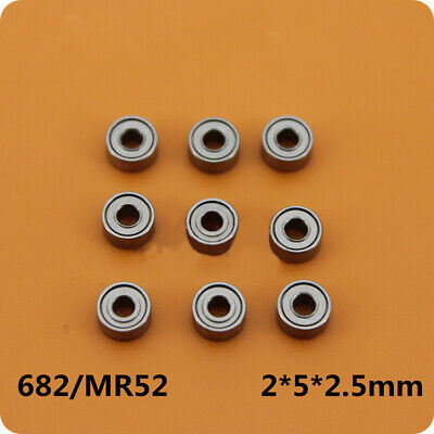 20pcs MR52ZZ 2mmx5mmx2.5mm Miniature deep Groove Ball Bearing with Double Shield
