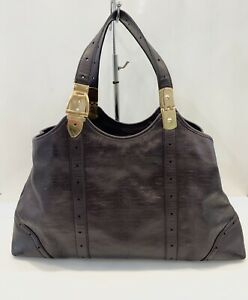 Vintage-Gucci-Horsebit-Monogram-Leather-Large-Hobo-Bag-Brown-Tote-Handbag
