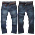 Charles Wilson Men's Mid Dark Wash Regular Slim Loose Stretch Denim Jeans 2016