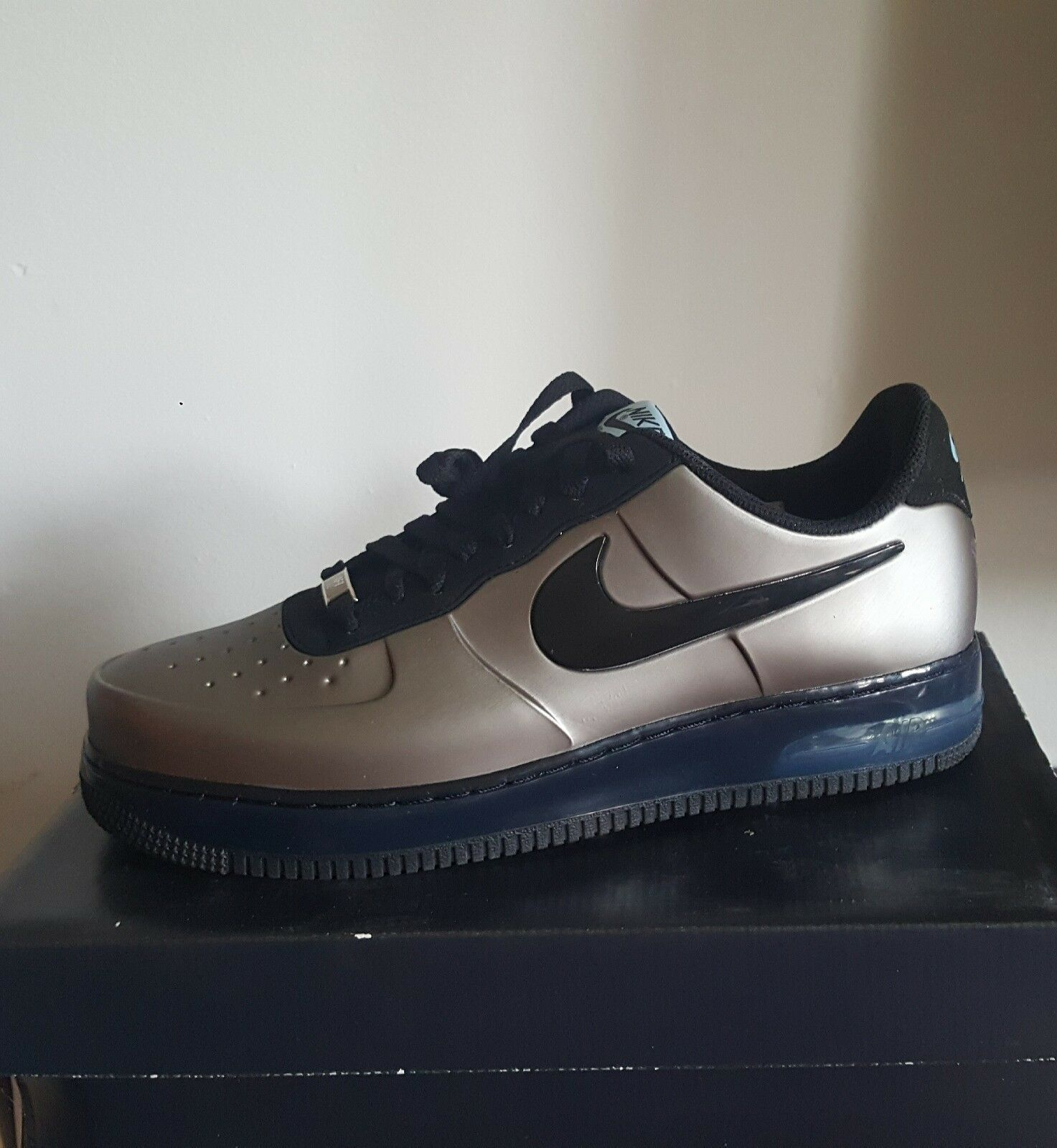 NIKE AIR FORCE 1 FOAMPOSITE PRO LOW / PEWTER / BLACK / EXCLUSIVELY RARE!!!