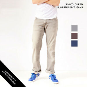 COLOURED-LEVIS-514-SLIM-STRAIGHT-LEG-JEANS-DENIM-GRADE-A-W30-W32-W34-W36-W38-W40