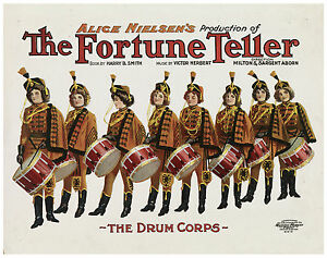 "Vintage Classic Art Print Theater Poster ""The Fortune Teller"" ca.1905"