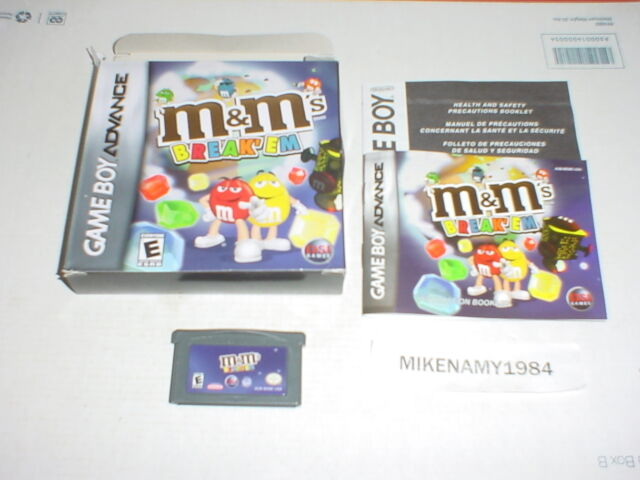 M&M's BREAK'EM game complete for GAME BOY ADVANCE or DS