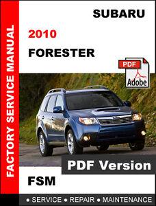 details about 2010 subaru forester factory service repair workshop fsm manual wiring diagram