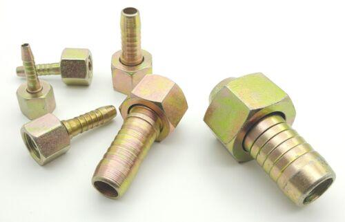 Conectores de Manguera Hidráulica Recto Carpintero BSP Hembra-Manguera Cola de 6 Mm a 25 mm