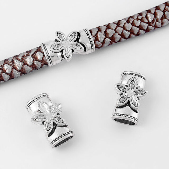 KONMAY 5 Sets 10.3x6.5mm Antique Silver Color Magnetic Clasp for Licorice Leather//Bracelet