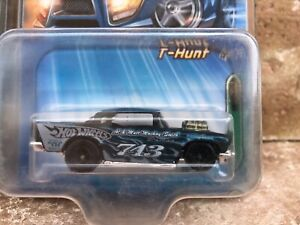 2005-Hot-Wheels-T-HUNT-TREASURE-HUNT-57-CHEVY-variations-BLACK-free-protecto
