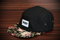 Phoenix Black Beauty 5-Panel Cap Rose Five Camper Hat Snapback Flower Baseball