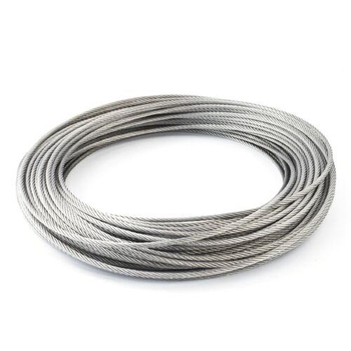 65m câble acier inox 3mm cordage torons 7x7