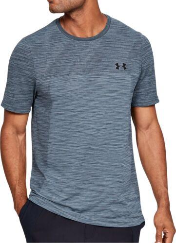 Under Armour Vanish Seamless Mens Training Top Grey Short Sleeve Gym Workout Tee