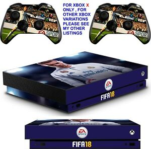 Xbox One X Fifa 18 Skin Sticker Console Decal Vinyl Xbox Controller Video Games & Consoles