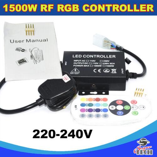 AC 220V 12mm LED RGB Controller with RF 25 key Remote Control for RGB Strip