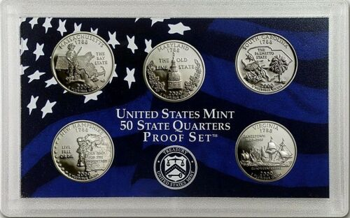 2000 S State Quarter Proof Set ☆☆ No Box//COA ☆☆ Ultra Cameo Quarters ☆☆