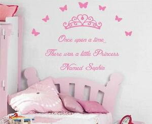 Once Upon A Time Personalized Princess Decal Wall Sticker