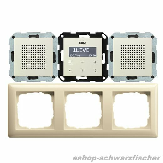 Gira Unterputz Radio Radio Radio RDS mit 2Lautsprecher und 3-fach-Rahmen    Farbe rw oder cw |  Neuer Markt  8476d0