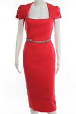 Roland Mouret Pink Wool Limited Edition Galaxy Capsule Pencil Dress Size 4 NWT
