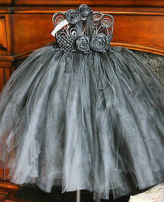 beautiful tutu dress with matching headband colors can be customized
