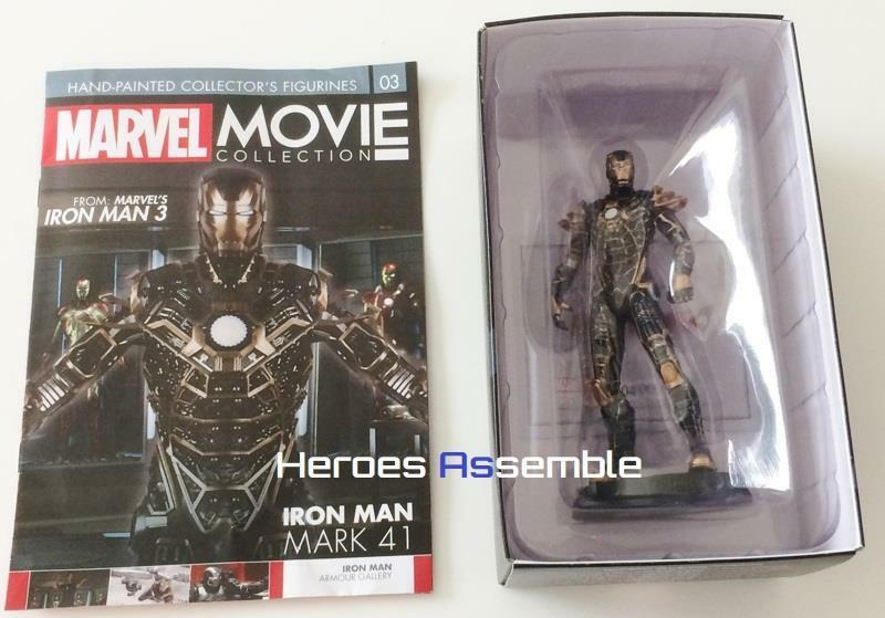 MARVEL MOVIE COLLECTION SUBSCRIBER  3 IRON MAN MARK XLI BONES FIGURINE EAGLEMOSS