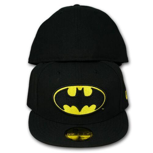 Original NEW ERA 59FIFTY FITTED CAP Character Basic Batman schwarz